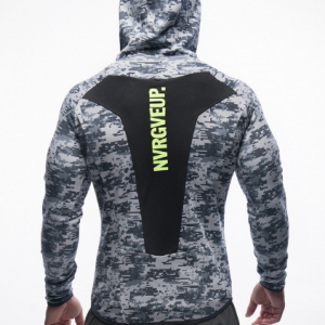 Кофта MUSCLE FIT HOODIE 2.0 MALIBU GREY CAMOUFLAGE | GYM AESTHETICS +
