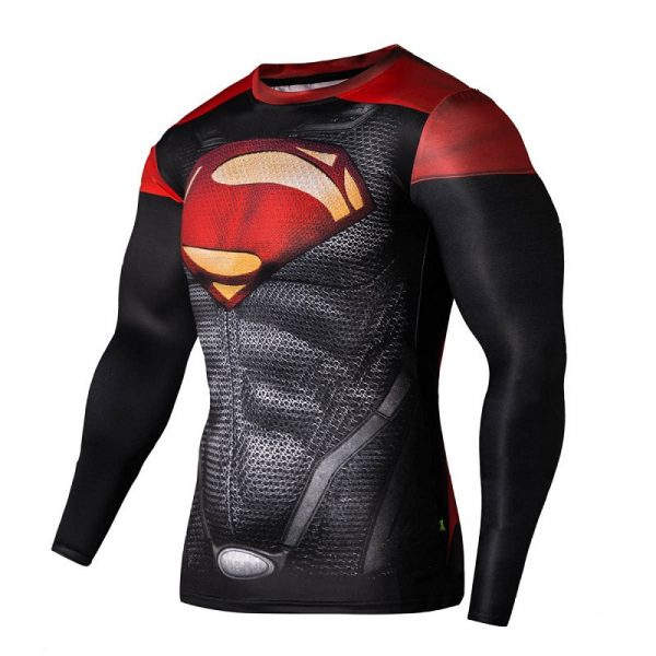 2015-new-hot-compressed-t-shirt-superman-and-captain-america-long-sleeve-t-shirt-t-shirts